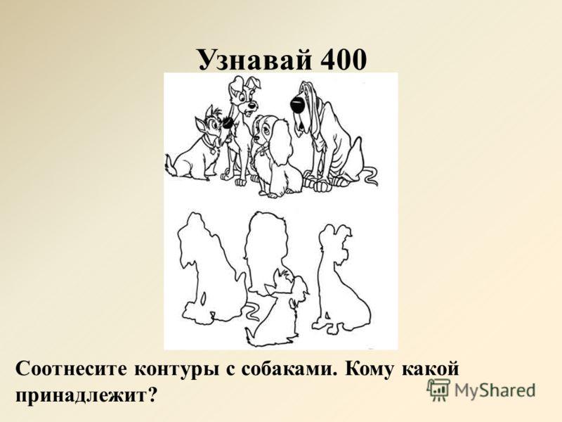 Узнавай 400 Соотнесите контуры с собаками. Кому какой принадлежит?