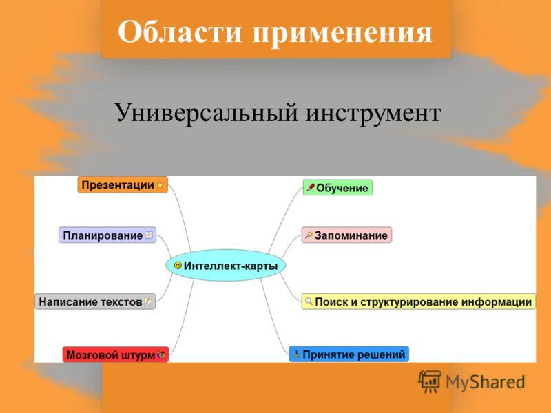 Области применения Универсальный инструмент