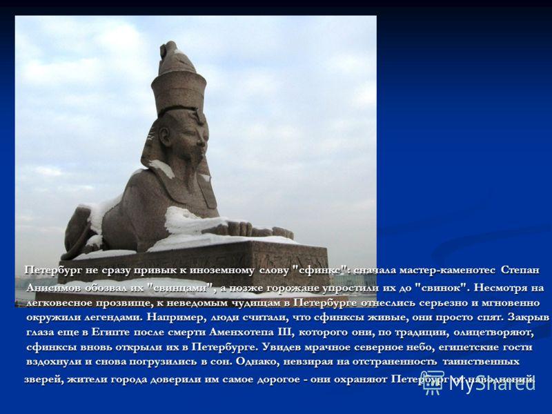 Петербург не сразу привык к иноземному слову
