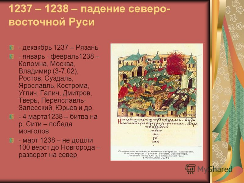 северо- восточной Руси