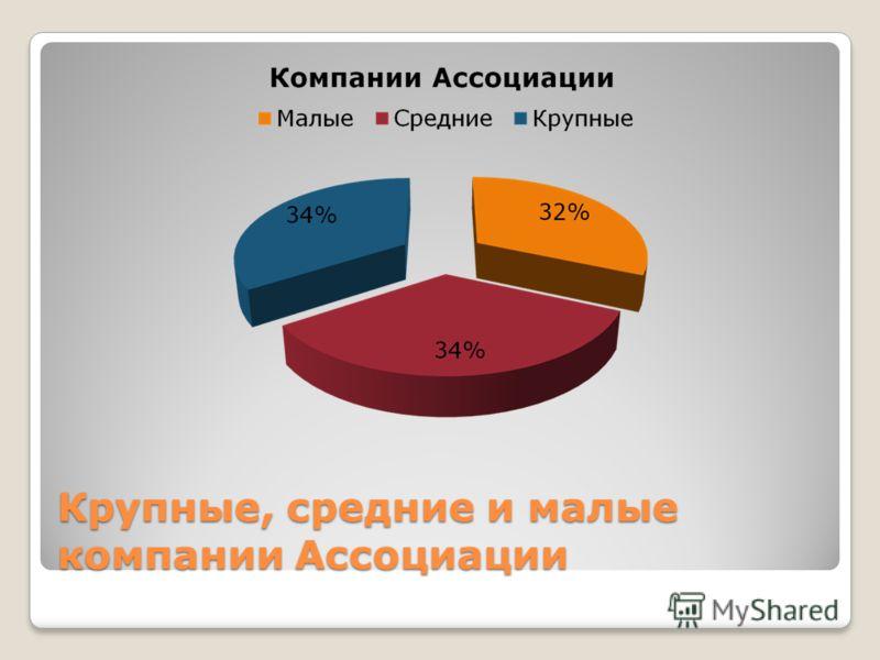 Крупные, средние и малые компании Ассоциации