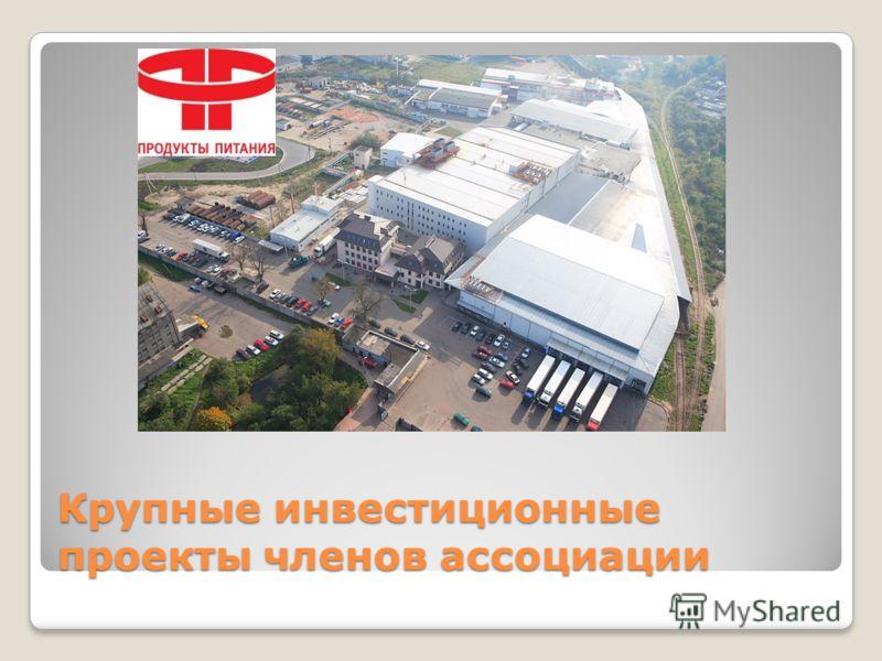 Крупные инвестиционные проекты членов ассоциации