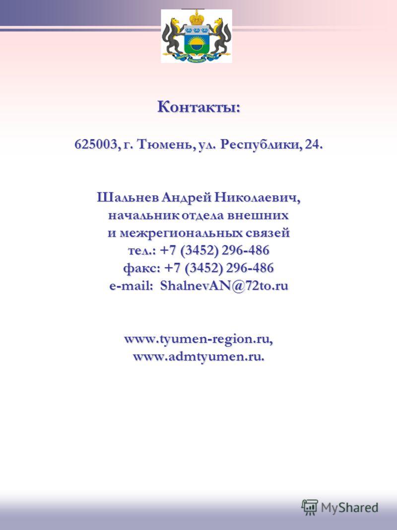 Слайд 8 ТЮМЕНСКАЯ ОБЛАСТЬ - ВАШ НАДЕЖНЫЙ ПАРТНЕР! Название предприятияНаименование продукции 16. ЗАО «Веалпроф» 625013, Тюменская область, г. Тюмень, ул. Энергетиков 167, офис 201 тел./факс: +7 (3452) 21-34-71, 21-08- 16, 21-47-98 е-mail: wealprof@si