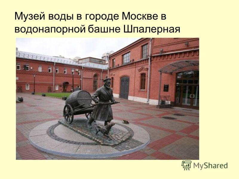 Музей воды в городе Москве в водонапорной башне Шпалерная