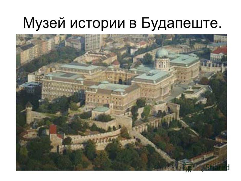 Музей истории в Будапеште.
