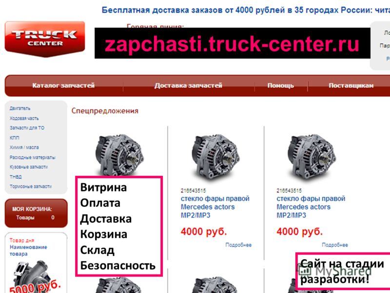 zapchasti.truck-center.ru Сайт на стадии разработки! Витрина Оплата Доставка Корзина Склад Безопасность 50