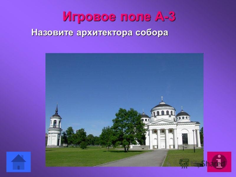 Назовите архитектора собора Игровое поле А-3