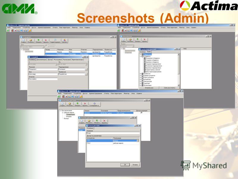 Screenshots (Admin)