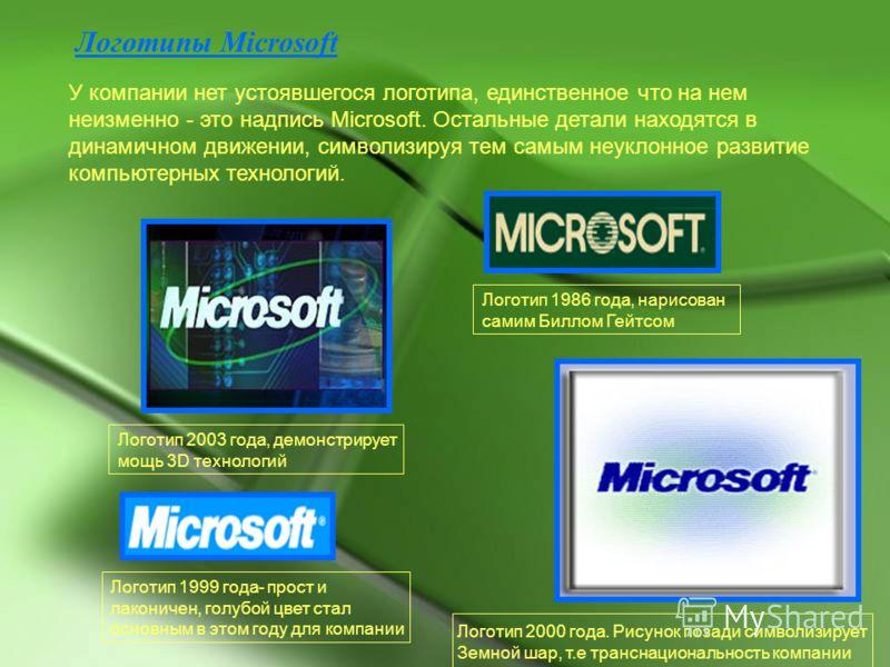 Логотипы microsoft у компании нет