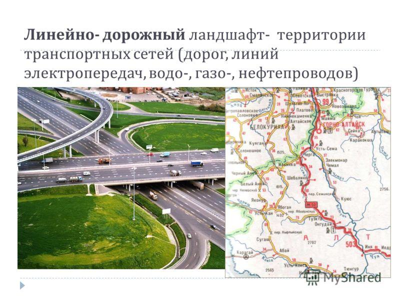 Линейно - дорожный ландшафт - территории транспортных сетей ( дорог, линий электропередач, водо -, газо -, нефтепроводов )