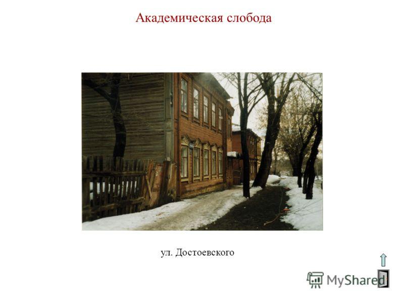 Академическая слобода ул. Достоевского
