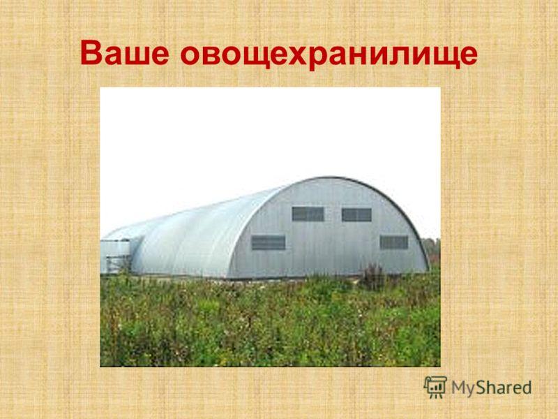Ваше овощехранилище