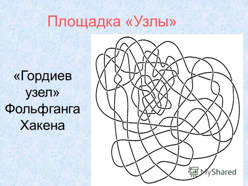 «Гордиев узел» Фольфганга Хакена Площадка «Узлы»