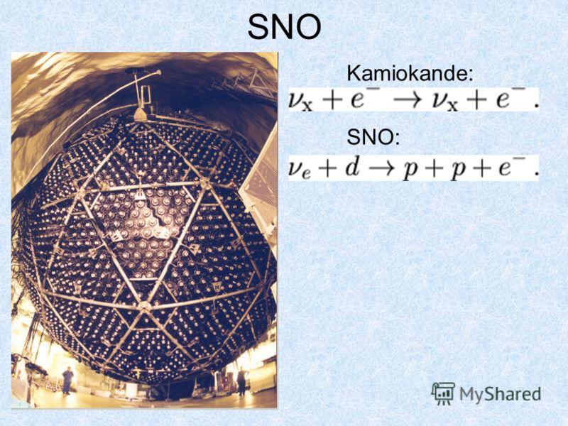SNO Kamiokande: SNO: