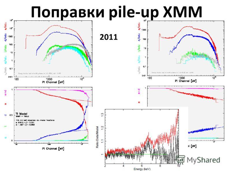 Поправки pile-up XMM 2011