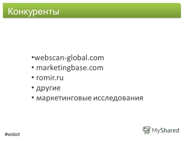 Конкуренты webscan-global.com marketingbase.com romir.ru другие маркетинговые исследования #wobot
