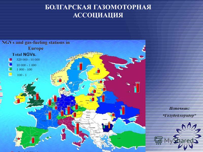 БОЛГАРСКАЯ ГАЗОМОТОРНАЯ АССОЦИАЦИЯ Источник: Голубой коридор