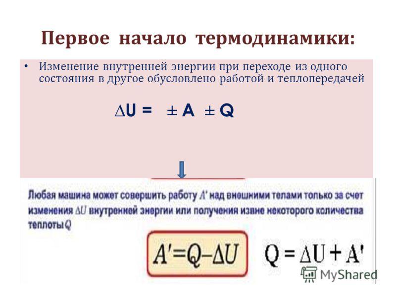 Работа с ЭОР: 1) http://fcior.edu.ru/card/16450/zakony- termodinamiki.html 1) http://fcior.edu.ru/card/16450/zakony- termodinamiki.html 1. Введение 2. Первый закон термодинамики 2) Просмотр видео Манометр с теплоприемником (первое начало термодинамик