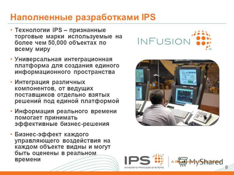 9 Наполненные разработками IPS Технологии IPS – признанные торговые марки используемые на более чем 50,000 объектах по всему миру Универсальная интеграционная платформа для создания единого информационного пространства Интеграция различных компоненто