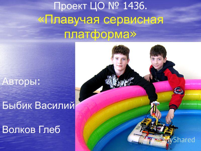 Проект ЦО 1436. « Плавучая сервисная платформа » Авторы : Быбик Василий Волков Глеб