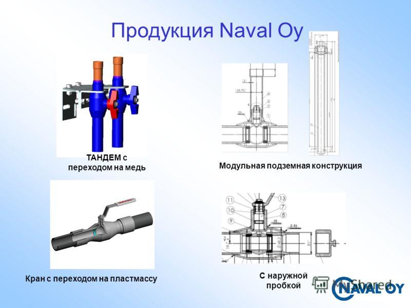 Продукция Naval Oy ТАНДЕМ с переходом на медь Модульная подземная конструкция C наружной пробкой Кран с переходом на пластмассу