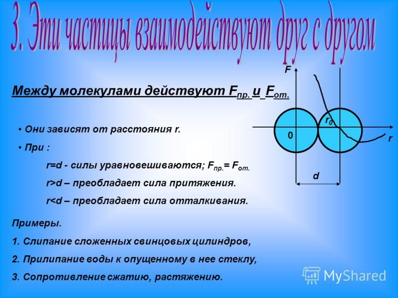 Явление, при котором происходит взаимное проникновение молекул одного вещества между молекулами другого, называют диффузией. Диффузия может происходить в газах, жидкостях и твёрдых телах. Быстрее всего она происходит в газах, медленнее - в жидкостях
