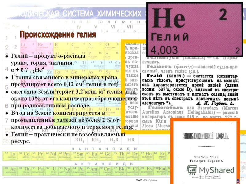 ОАО «Газпром» 5