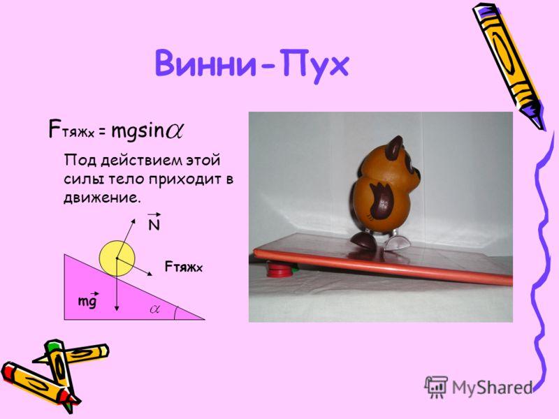 Винни-Пух Раздел механики, изучающий условия равновесия сил, называется статикой. N mg