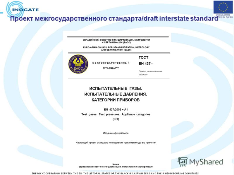 Проект межгосударственного стандарта/draft interstate standard