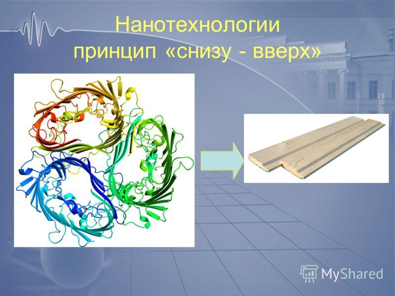 Нанотехнологии принцип «снизу - вверх»