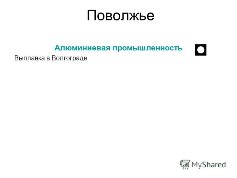 Поволжье Алюминиевая промышленность Выплавка в Волгограде