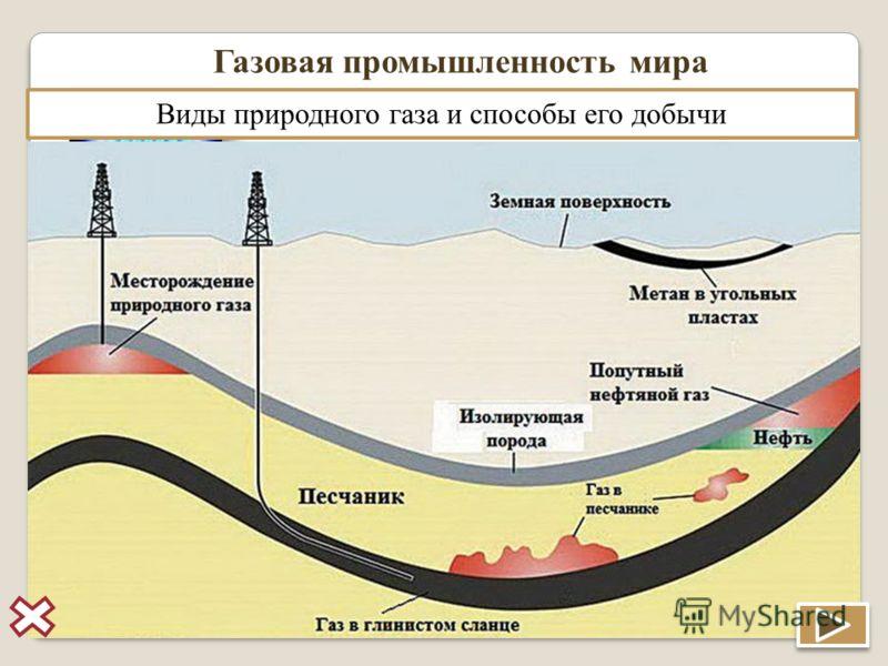 Газовая промышленность мира Газовая промышленность – отрасль энерге- тики, включающая добычу, переработку и транспортировку газа. Природный газ – смес