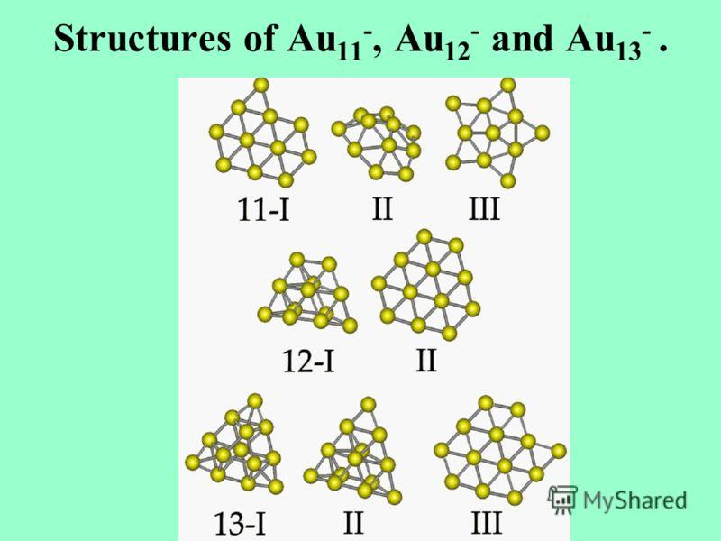 Structures of Au 11 -, Au 12 - and Au 13 -.
