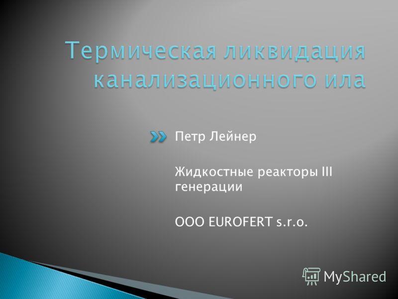 Петр Лейнер Жидкостные реакторы III генерации ООО EUROFERT s.r.o.