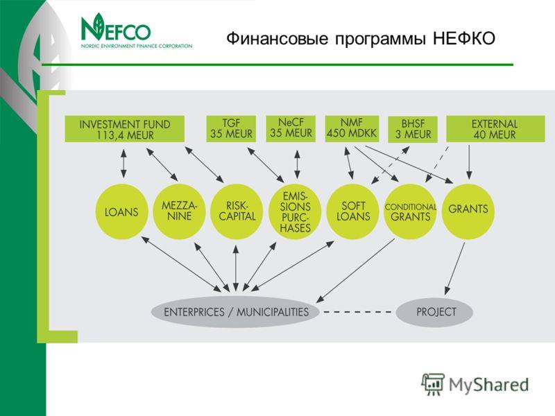 Финансовые программы НЕФКО