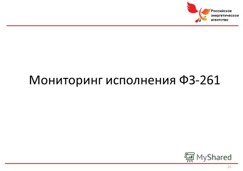 Российское энергетическое агентство Мониторинг исполнения ФЗ-261 20