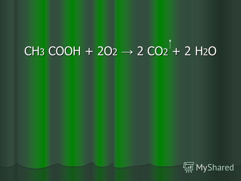 Реакция горения карбоновых кислот