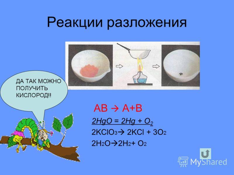 Реакции соединения А+В = АВ 2Fe +3Cl 2 2FeCl 3 CaO + CO 2 CaCO 3 Всегда получается только одно вещество!!!