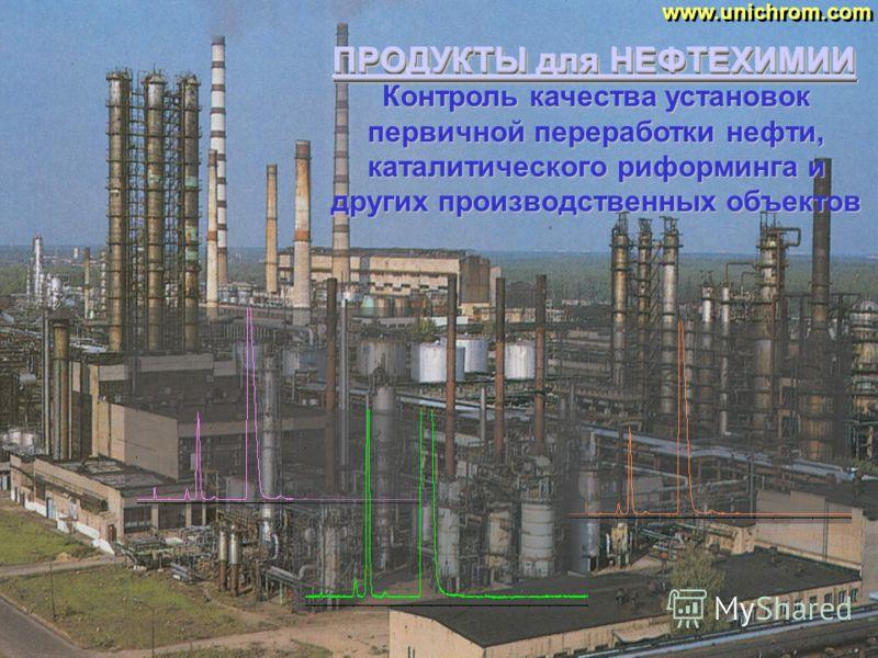 ПРОДУКТЫ для НЕФТЕХИМИИ www.unichrom.com Прецизионное определение примесей в бензоле, толуоле, ксилоле и других продуктах нефтехимии