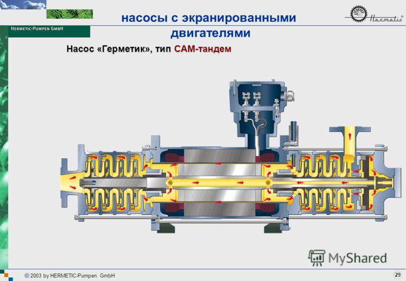 29 2003 by HERMETIC-Pumpen GmbH Насос «Герметик», тип CAM-тандем насосы с экранированными двигателями