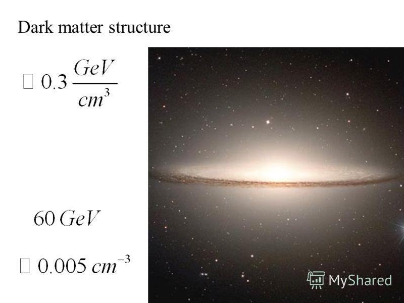 Dark matter structure