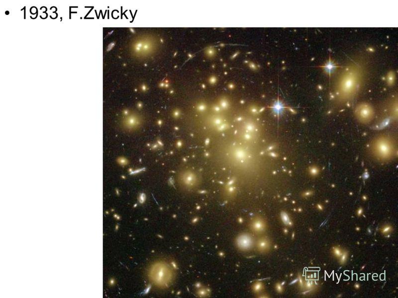1933, F.Zwicky