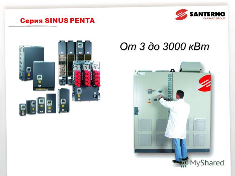 От 3 до 3000 кВт SINUS PENTA Серия SINUS PENTA