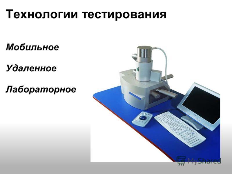 Технологии тестирования Мобильное Удаленное Лабораторное