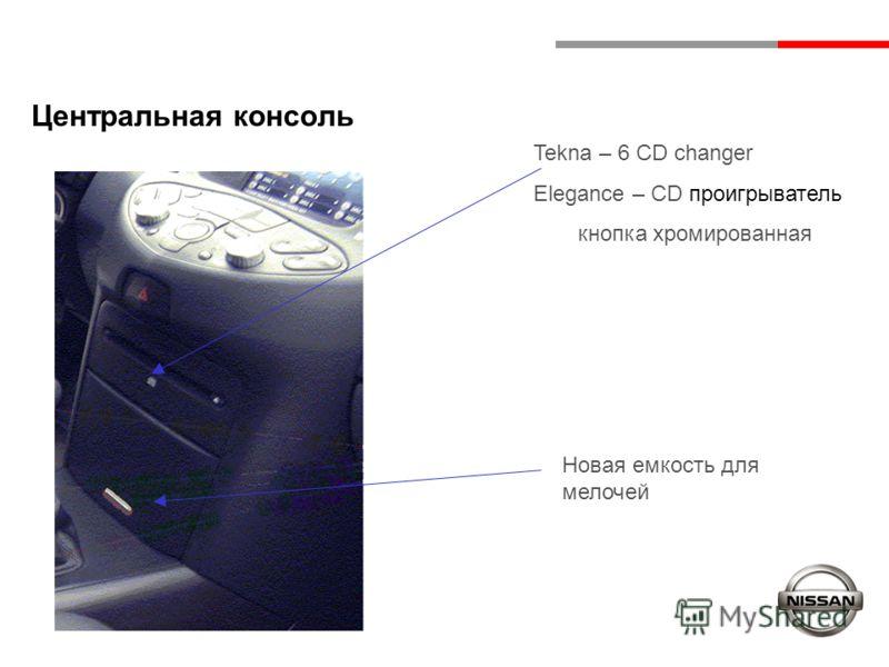 Центральная консоль Tekna – 6 CD changer Elegance – CD проигрыватель кнопка хромированная Новая емкость для мелочей
