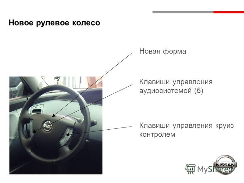 Новое рулевое колесо Новая форма Клавиши управления аудиосистемой (5) Клавиши управления круиз контролем