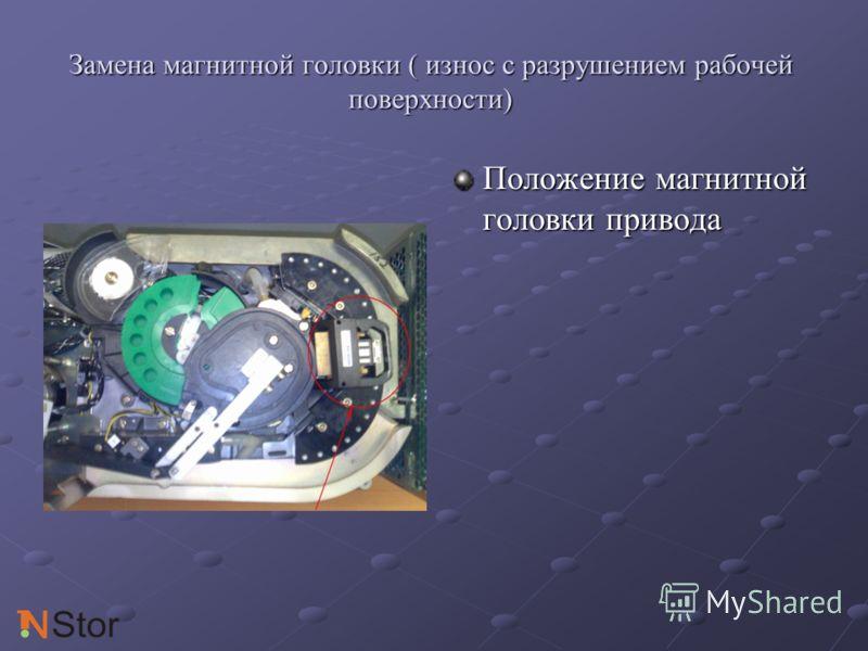 Замена магнитной головки ( износ с разрушением рабочей поверхности) Положение магнитной головки привода