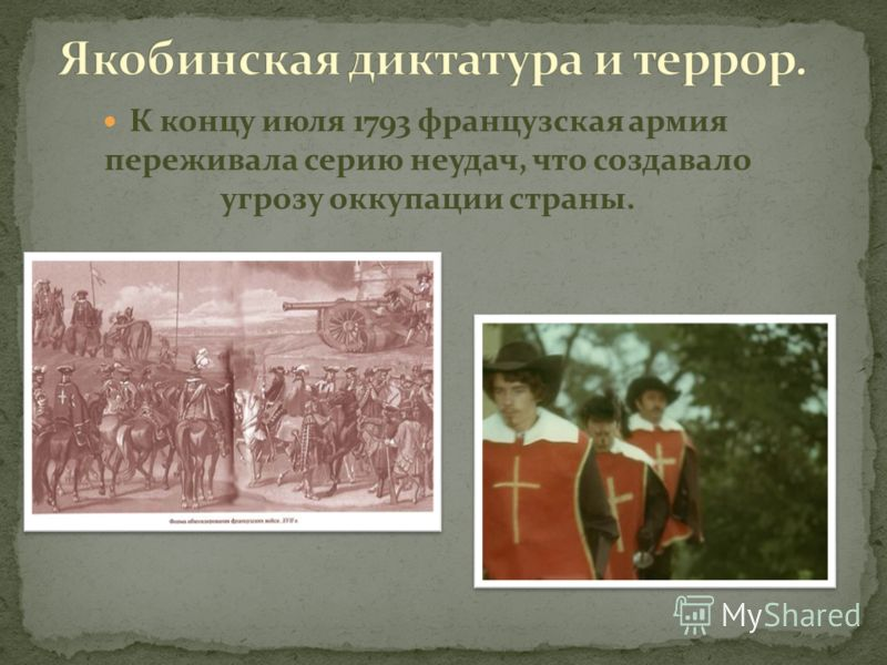 К концу июля 1793 французская армия переживала серию неудач, что создавало угрозу оккупации страны.