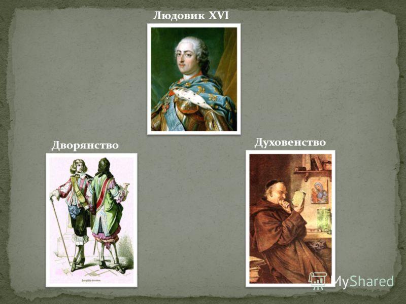 Людовик XVI Духовенство Дворянство