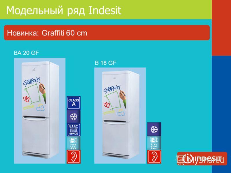 Модельный ряд Indesit B 18 GF BА 20 GF Новинка: Graffiti 60 cm